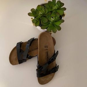 Birkenstock Black Crossover Straps Sandals 39